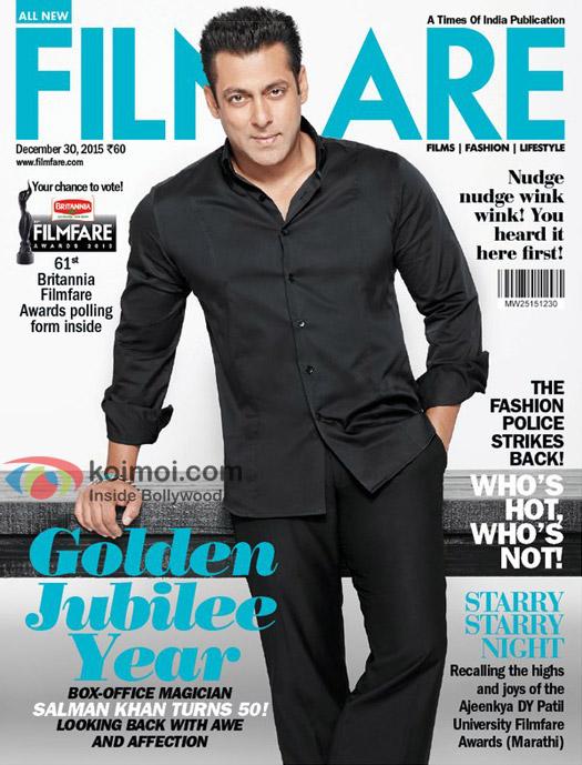 Special Filmfare Cover On Salman's 50th Birthday