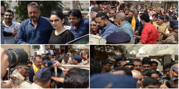 Pictures Of Sanjay Dutt At Siddhivinayak Temple