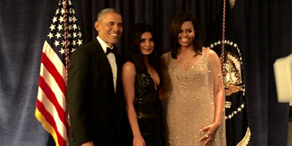 Priyanka Chopra With The US President Barack Obama And The First Lady Michelle Obama