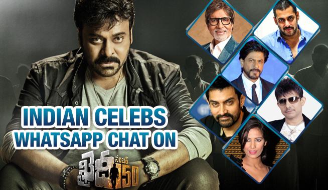 Celebrities WhatsApp Conversation On Khaidi No150